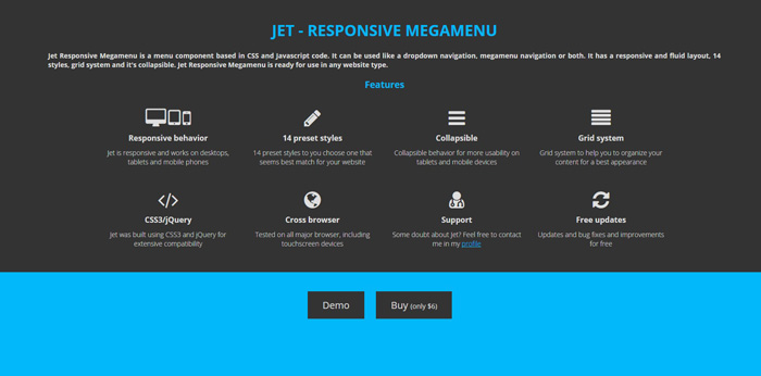 Jet   Responsive Megamenu