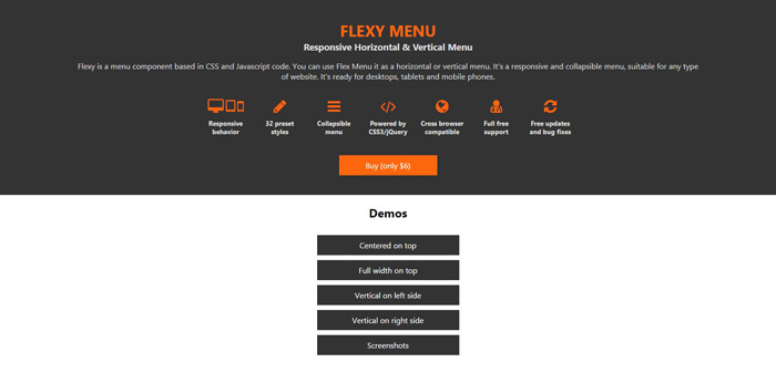 flexy menu