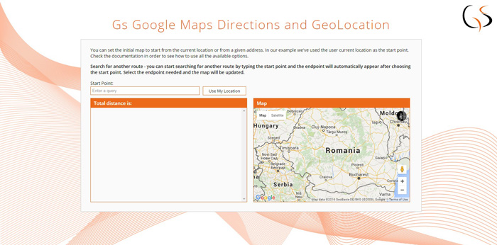 Gs Google Maps Directions and GeoLocation