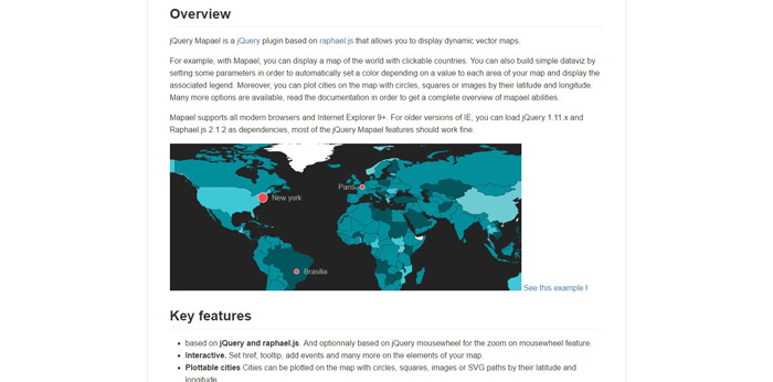 30 best jquery map plugins for your next project gojquery jquery mapael is a jquery plugin based on raphaeljs that allows you to display dynamic vector maps with mapael you can display a map of the world with gumiabroncs Images