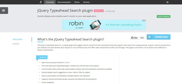 jquery typehead search plugin