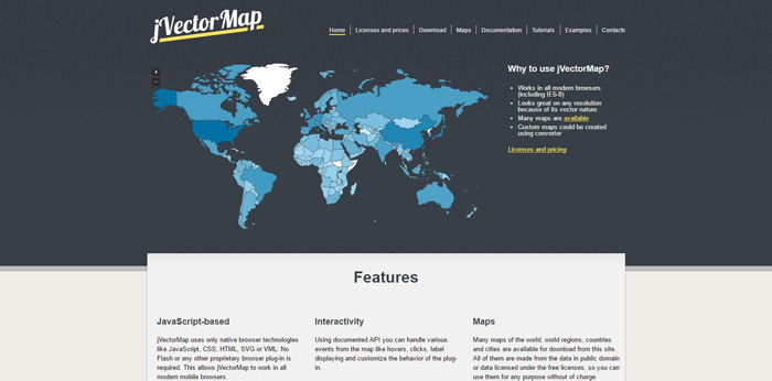 30 best jquery map plugins for your next project gojquery jvectormap is a jquery plugin employed to show vector maps and visualize data on html pages it uses svg in all modern browsers like firefox 3 or 4 safari gumiabroncs Gallery