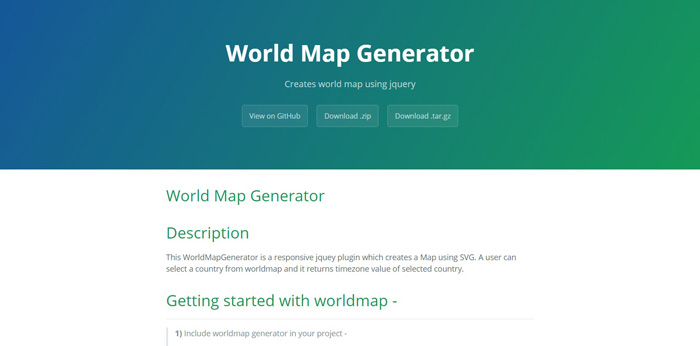 world map generator