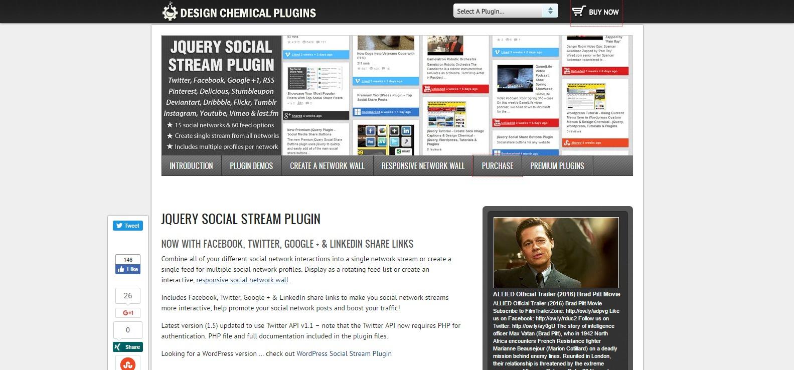 jquery social stream plugin