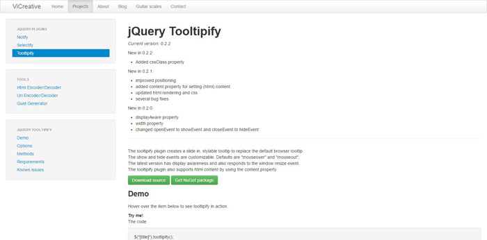 jquery tooltipify