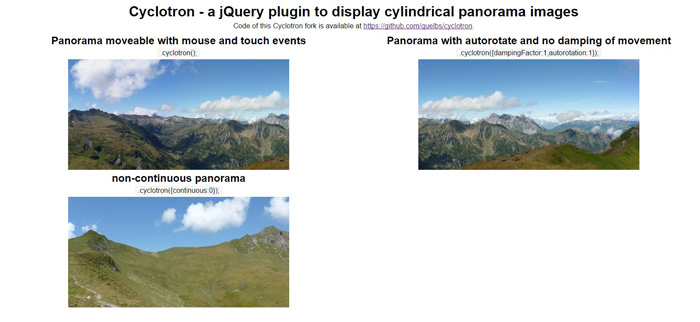 15 Best jQuery Panorama Plugins - GojQuery