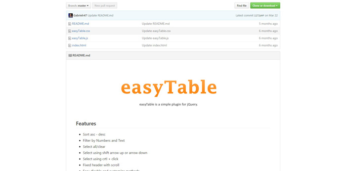 easyTable