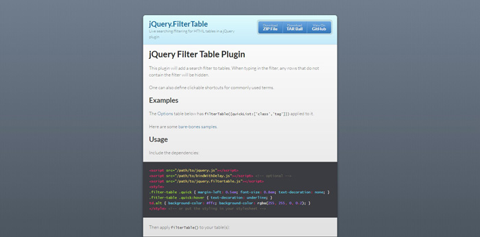 30 Best jQuery Table Plugins for 2016 - GojQuery