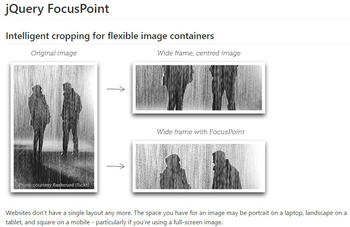 jquery focus point