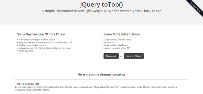 jquery-to-top