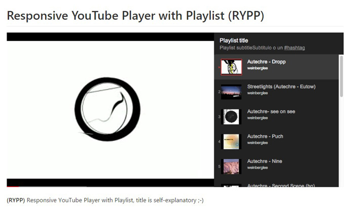 responsive-youtube-player-playlist