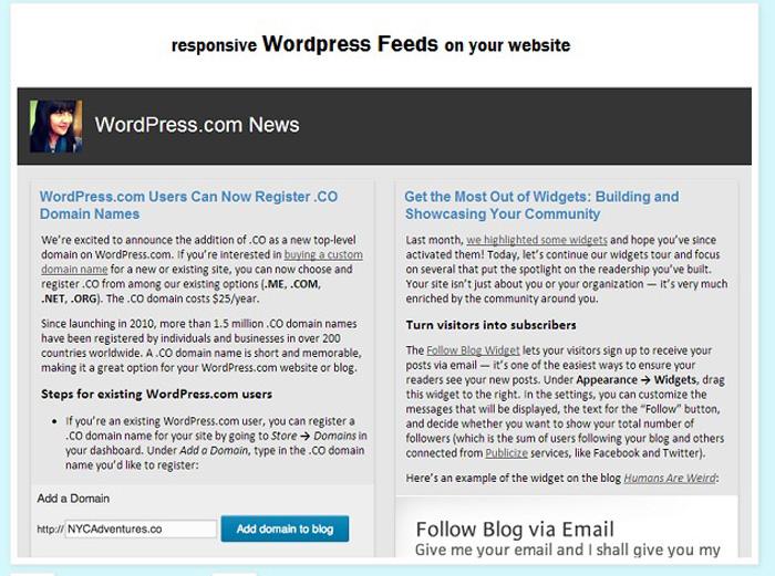 wordpress-feeds