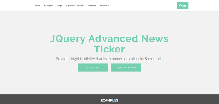 jquery-advanced-news-ticker