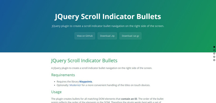 jquery-scroll-indicator-bullets