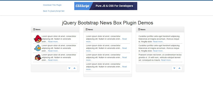 bootstrap-newsbox