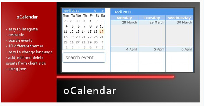Year Calendar Jquery Plugin : Best jquery calendar plugins gojquery