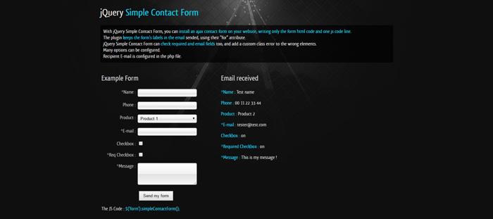 10 Best jQuery Ajax Contact Form Plugins - GojQuery