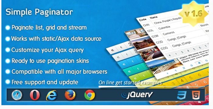 10 Best jQuery Pagination Plugins You Shouldn't Miss - GojQuery