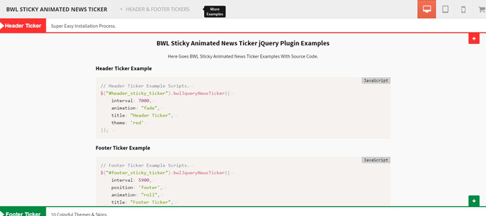 Best jQuery Sticky Elements Plugins for 2017 - GojQuery