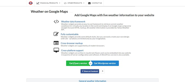 Create Your Own Weather Map.12 Jquery Weather Plugins Gojquery